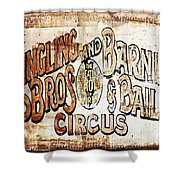 Ringling Brothers And Barnum And Bailey Circus Shower Curtain