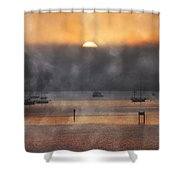 Ringling Misty Morning Shower Curtain