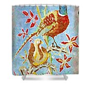Ringneck Pheasants Shower Curtain