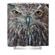 Rings Of Fire, Owl Shower Curtain
