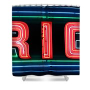 Rio At Night Shower Curtain