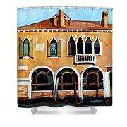Rio Del Malcanton Shower Curtain by Filip Mihail