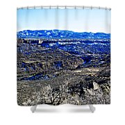 Rio Grande River Canyon-arizona Shower Curtain