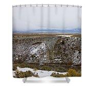 Rio Grande River Gorge Bridge Shower Curtain