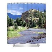 Rio Grande River Landscape Shower Curtain