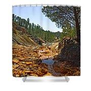 Rio Tinto Mines, Huelva Province Shower Curtain