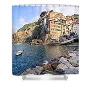 Riomaggiore Cinque Terre - Italy Shower Curtain