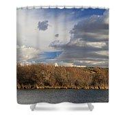 Riparian Zone Snake River Shower Curtain