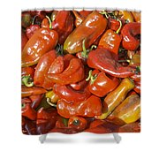 Ripe Red Peppers Shower Curtain