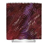 Ripple Ruby Shower Curtain