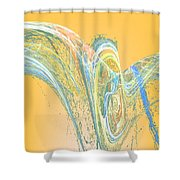 Ripple Yellow Shower Curtain