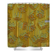 Rippled Dice Abstract Shower Curtain