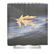 Rippled Maple Leaf Shower Curtain