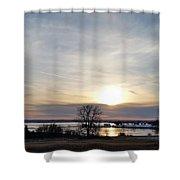 Rippled Sunset Shower Curtain