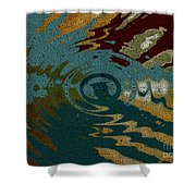 Rippled Time Shower Curtain