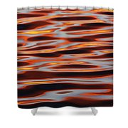Ripples At Sunset Shower Curtain