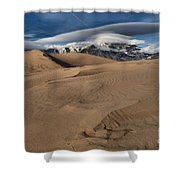 Ripples Dunes And Clouds Shower Curtain