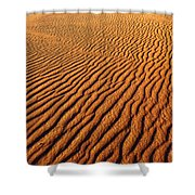 Ripple Patterns In The Sand 1 Shower Curtain