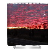 Ripples Of Elevated Lava Shower Curtain