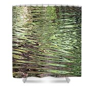 Ripples On Florida River Shower Curtain