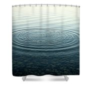 Ripples On Lake Surface, Maine Shower Curtain