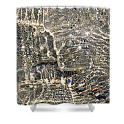 Ripples On The Sea Shore Shower Curtain