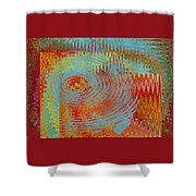 Rippling Colors No 1 Shower Curtain
