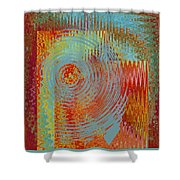 Rippling Colors No 2 Shower Curtain