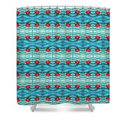 Rippling Red Maple Leaf Shower Curtain