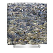 Rippling Water Over Rocks Shower Curtain