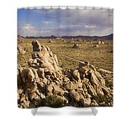 Rise Of Gneis Rock Formations Shower Curtain
