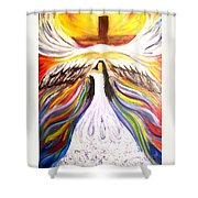 Rise Up With Wings As Eagles Shower Curtain