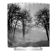 Rising Mists In The Bald Hills Shower Curtain