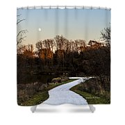 Rising Moon Fishing Shower Curtain