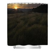Rising Over The Hills Shower Curtain