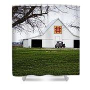 Rising Star Quilt Barn Shower Curtain