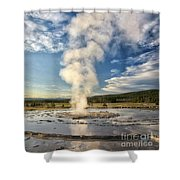 Rising Steam Shower Curtain