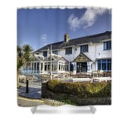 Rising Sun At St Mawes  Shower Curtain