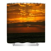 Rising Sun In The Clouds  Shower Curtain