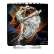Rite Of Spring - Square Version Shower Curtain
