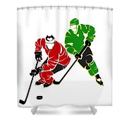 Rivalries Blackhawks And North Stars Shower Curtain