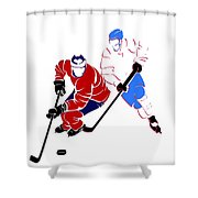 Rivalries Canadiens And Nordiques Shower Curtain