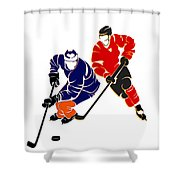 Rivalries Oilers And Flames Shower Curtain