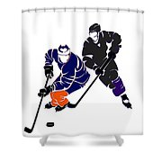 Rivalries Oilers And Kings Shower Curtain