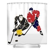 Rivalries Penguins And Capitals Shower Curtain