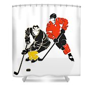Rivalries Penguins And Flyers Shower Curtain