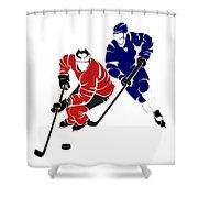 Rivalries Senators And Maple Leafs Shower Curtain