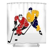Rivalries Senators And Sabres Shower Curtain