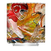 Rivals Face To Face 1 Shower Curtain by Mark Moore