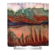 River Aflame Shower Curtain